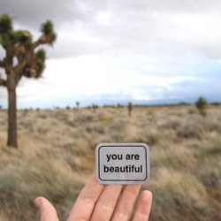 "A quickly growing movement to go against every idea modern society shows us. ""You are beautiful"" Stickers."
