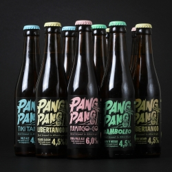 Swedish design agency SNASK packages Swedish microbrewery legend PangPang's new beer series with a new sun-bleached look.