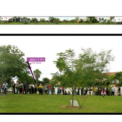 A Panoramic 360° view of the last day of early voting for the 2008 elections at one location Miami, Florida. The wait time was about 5 hours as voters poured int to exercise their democratic privilege. Is this foreshadowing Tuesday?
