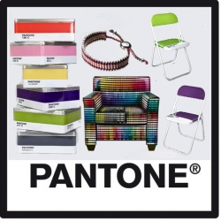 The Pantone® product parade marches on. This time, there's metal folding chairs, boxes, friendship bracelets and even a digitally printed Pantone Leather armchair.