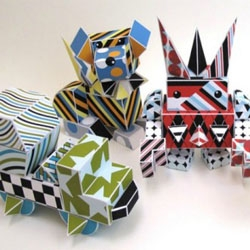 Grace Hawthorne, co-founder of ReadyMade magazine's latest creation, Paper Punk, is recyclable paper building blocks now available for pre-sale.
