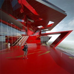 Crazy transformer-style proposal for Busan Opera House by Paper/Totement team.