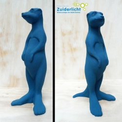 Paultje is a life size Meerkat made for the Amsterdam Energy Cooperative Zuiderlicht, which stimulates the generation of clean (solar) energy.
