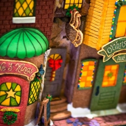 Explore the detailed world of the 2008 National Gingerbread House Competition