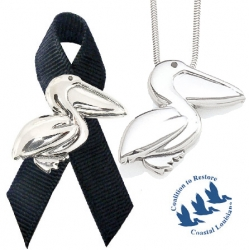 Mignon Faget's Gulf Coast Jewelry Collection raises awareness and funds for the Gulf of Mexico oil spill disaster. The proceeds benefit the Coalition to Restore Coastal Louisiana.