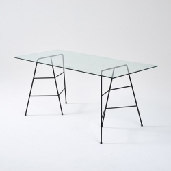The new Perch Metal Trestle Legs by Trestle Union are sleek, minimal, tough and guts and all set to wing their way to your space and awaiting table top.