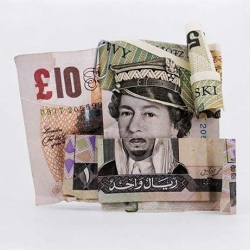 French photographer Philippe Pétremant love mixing banknotes of different countries in order to make odd portraits.