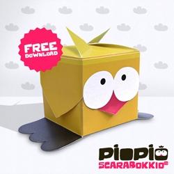 ...BuonaPasqua with PiOPiO new PaperToys Scarabokkio...freedownload!!! [Editor's Note: thats pretty adorable]