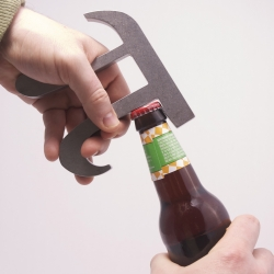 Pi Bottle Opener by theUncommonGreen.  Functional Bar Art to open your beer (and sodas) with math style.  Designed by Brian B Johnson.