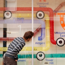 Wieden+Kennedy London's WKside have created 'Rat Race'. Live rats inhabit this engaging window display.