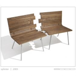 Splinter Bench/Chairs by Matthew Kroeker