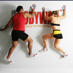 BodyWall - the crazy new spiderman fitness workout - also great for stretching apparently...