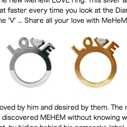 Love the diamond in the V. Created by MEHEM an anonymous Japanese designer and sold via Colette. Also worthy is his gun and knife rings.