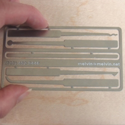 For anyone that missed it ~ possibly the coolest business card i've ever seen. Functional lock picks.