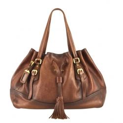 Prada Antik Deerskin Bag ~  gorgeous  shape and color... not sure if i could handle the deerskin part. (i'm on a purse hunt)