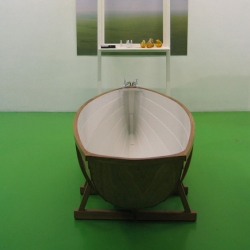 In #1633 Rugenius features the NYTimes Slideshow Feature... but that Bathboat is worth a full feature on its own... Wieki Somer's inverted boat turned bathtub.