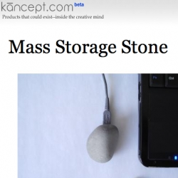 Kancept - its HOT or NOT for Concepts.... not sure what the crowd rating is like so far, but the images seem so so... love this rock storage device though - its like the modern day key hider in the yard?