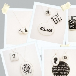 Fun black and white necklaces by Archive Jewelry... will need to find out more about these!