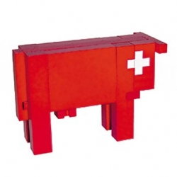 Vache Rouge Puzzle - designed by Gerard Petremand. Made by Naef Spiele AG, Zofingen, Switzerland... great sustainable wood puzzle over at Branch