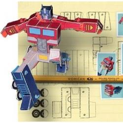 Bored at work? Warm up that printer! Grab your scissors... more DIY ~ paper Optimus Prime!