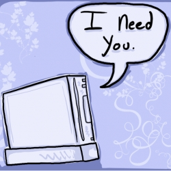 .... says the Wii to the Wiimote.... or you to your valentine? Wii and other gamer themed valentines for printing and emailing...