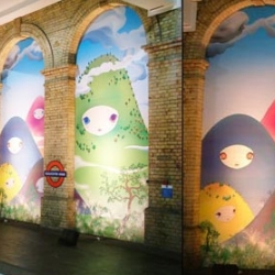 CoolHunter's feature on the latest mural to go up in the Gloucester Tube Station makes me want to get back to London soon. by Chiho Aoshima
