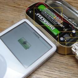 Altoids box of batteries - for your pod