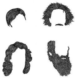 Hair Portraits ~ this one is of great thinkers... they even have one for star wars. by Mr. Bingo.