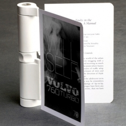 """Turnover"" is a new E-Reader concept that has a screen that is rotated to the back refreshes the next page during the turning action, thereby stimulating a whole book or magazine with only two pages."