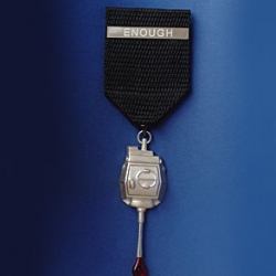 ENOUGH ~ is Nicholas Estrada's Anti War Medal from 2004