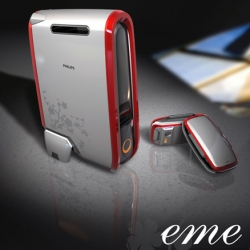 The EME designed by Shao Wei Huang takes that approach in designing a mobile device queued for video, music, and gaming.