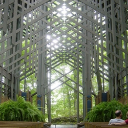 Thorncrown Chapel in Eureka Springs, Arkansas.