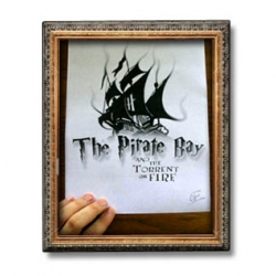 With all the Harry Potter finale drama, Pirate Bay has once again been at the center of it... and has yet another nice home page graphic that links you to searching for it.