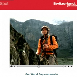 "Switzerland - ""women, where men spend less time on football and more time on you?"" haha. wow. check out this tv spot."
