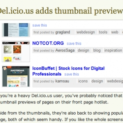 It got brought to my attention that Del.icio.us has us on their homepage - and LifeHacker had us in their image!