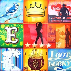 I Got Lucky by Mark Hobley, showing at the Applegate Gallery. Vegas, Baby, Vegas!