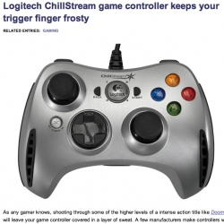 Hardcore gamer? or have a sweating problem? Logitech's new controller has FANS