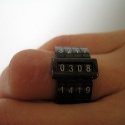 Brilliant ring - helps you keep track of secret codes and dates and times...