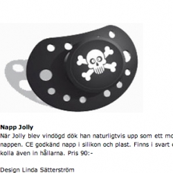 Napp Jolly. On the pirate and cute skull theme - cute pacifier