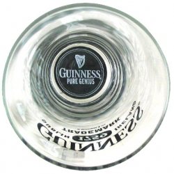 Guinness pint glasses that say PURE GENIUS at the bottom... =)
