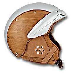 I'd want a vespa just so I can wear one of these bamboo and leather inset helmets from INDIGOSNOW