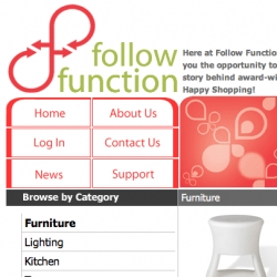 FOLLOW FUNCTION - (shouldn't form beat function by a smidge?) New design store on the scene!