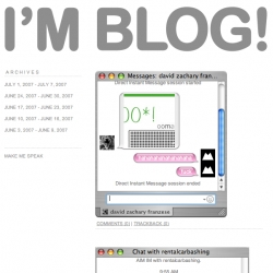 I'M BLOG is a blog of IM conversations submitted by various people in NYC