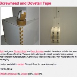 from coolhunting - dovetail tape!!!