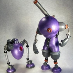 The Slobots are Art /Toy/Sculptures  by M Heisler. I can't believe these two robots  started their life as a Munny.