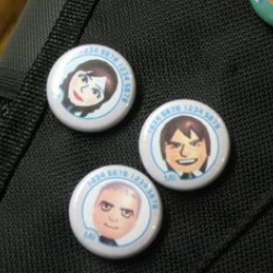For all those creative mii's, someone got entrepreneurial and is making buttons for you...