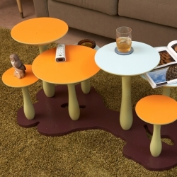The Mushroom Forest Table Series is a new table design concept from Bay Area Designer Thomas Wold.  Too cute, perfect for playful waiting spaces or elementary schools?
