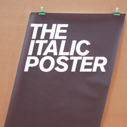 The Italic Poster, for the typography & design geek.