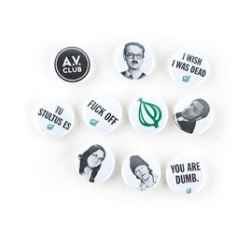 "The Onion's 1"" pins are quite cute and amusing to me this morning as well."