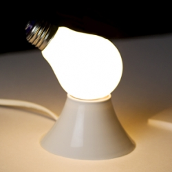 a lightbulb with two sides. One actually works, and the other one just for show. Turn any fixture into a statement